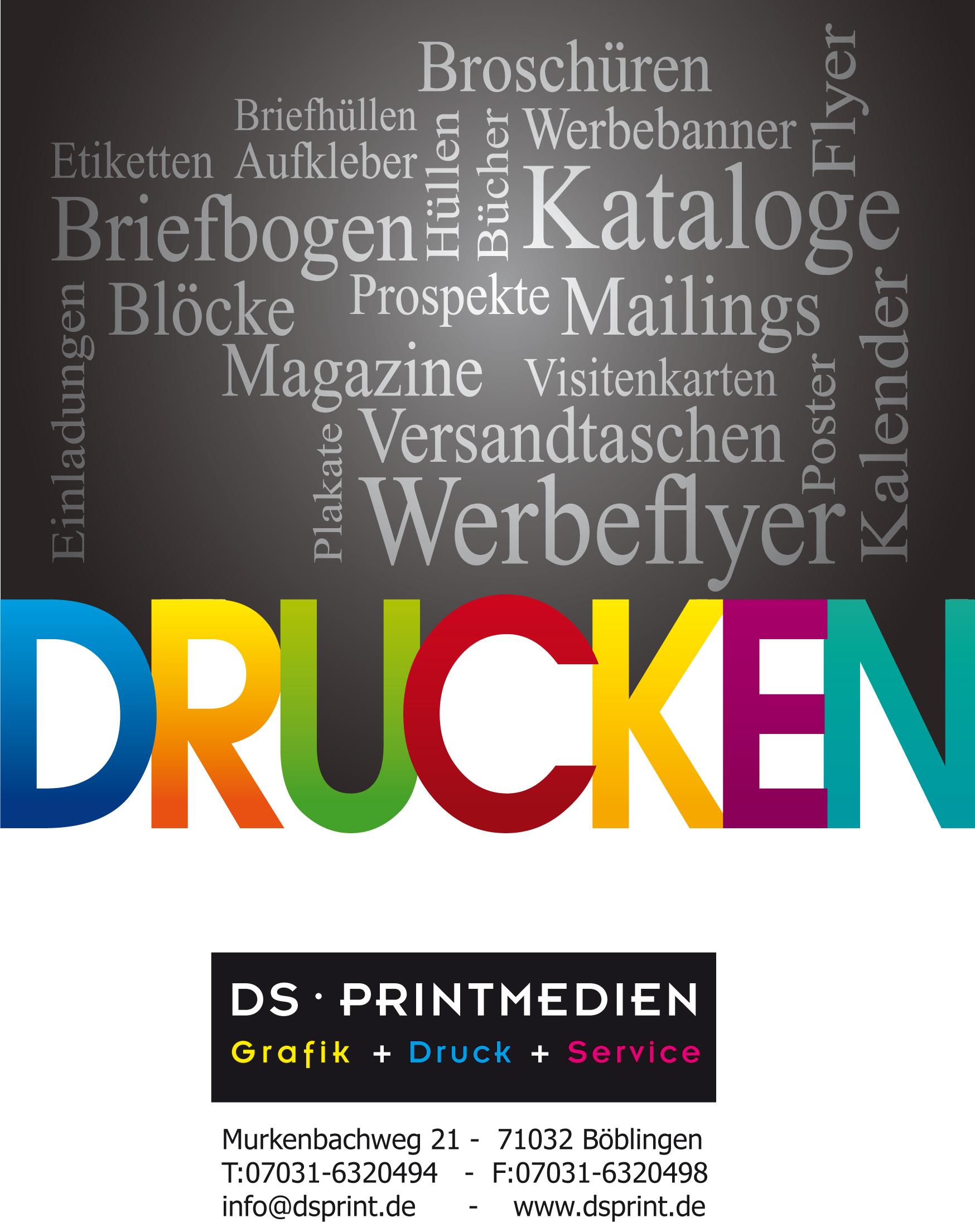 Druckerei Ds Printmedien Produkte
